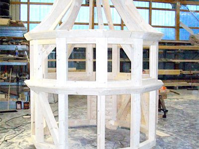 Turmhaube aus Holz